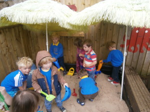 More fun in our lovely sandpit!!
