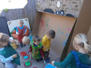 Painting outside in the garden!!