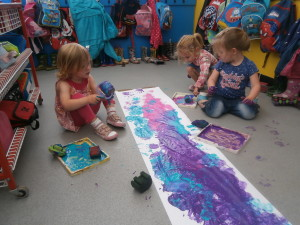 Messy paint play!!