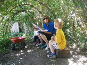 Storytime in the woods!!