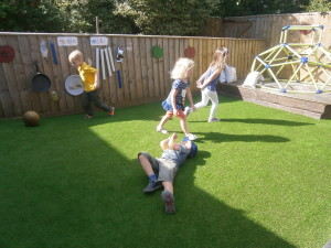 Testing out our new 'Lazy Lawn'!!