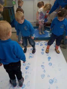 Wellie boot printing