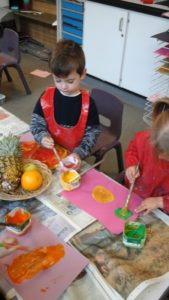 Painting fruit pictures