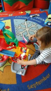 Small world play with the cars