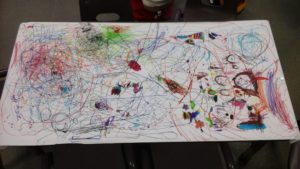 Our colouring masterpiece