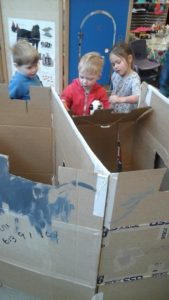 Team work making the castle